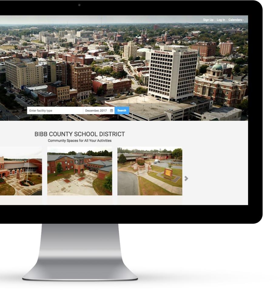 Bibb County Facilitron Landing Page