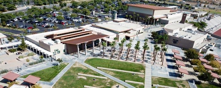 Aerial shot of school campus