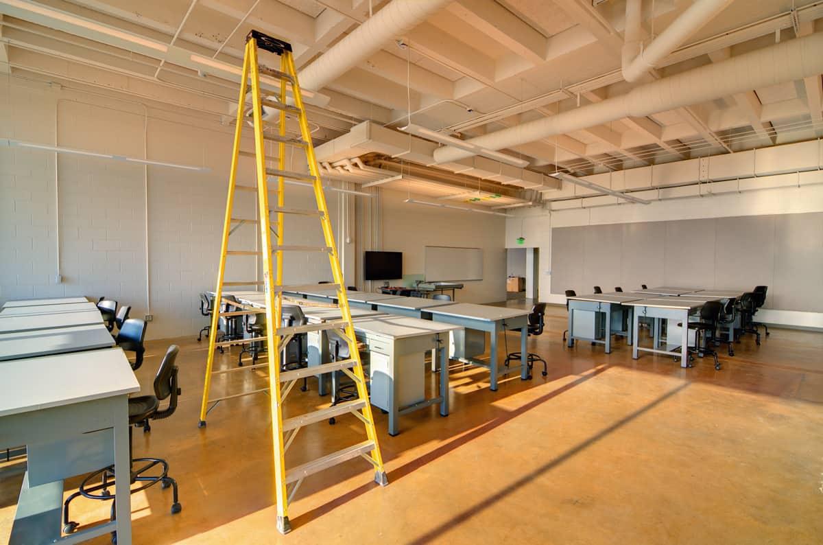 Ladder for work management inside a school