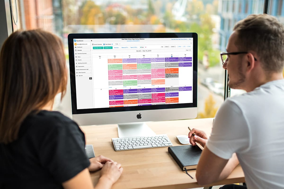 Facilitron scheduling and reservations calendar.